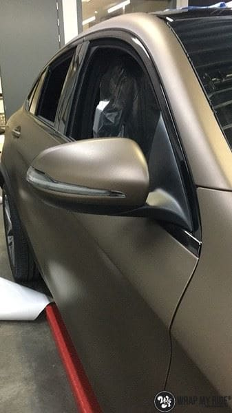 Mercedes GLC matte metallic brown, Carwrapping door Wrapmyride.nu Foto-nr:9559, ©2021