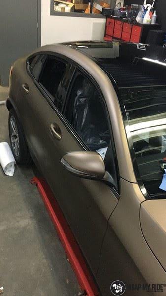 Mercedes GLC matte metallic brown, Carwrapping door Wrapmyride.nu Foto-nr:9558, ©2021