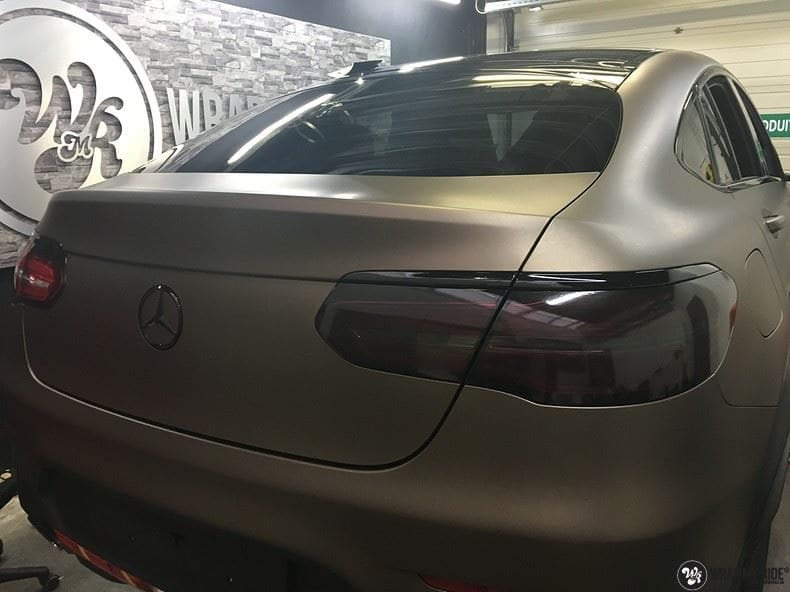 Mercedes GLC matte metallic brown, Carwrapping door Wrapmyride.nu Foto-nr:9555, ©2018