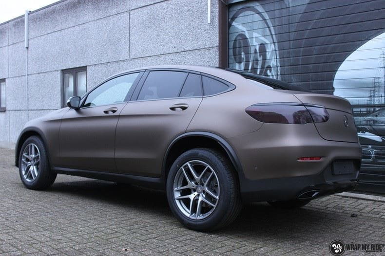 Mercedes GLC matte metallic brown, Carwrapping door Wrapmyride.nu Foto-nr:9549, ©2018