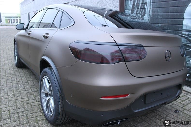 Mercedes GLC matte metallic brown, Carwrapping door Wrapmyride.nu Foto-nr:9548, ©2021