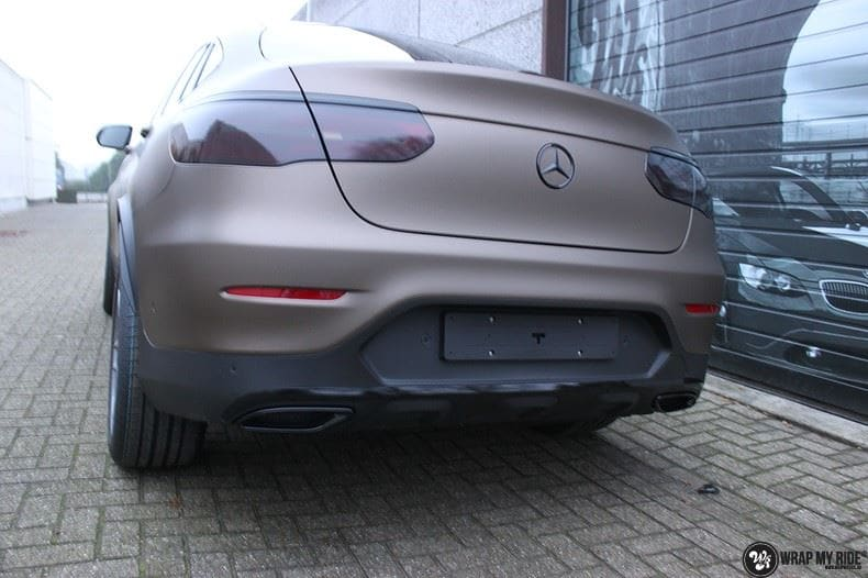 Mercedes GLC matte metallic brown, Carwrapping door Wrapmyride.nu Foto-nr:9538, ©2018