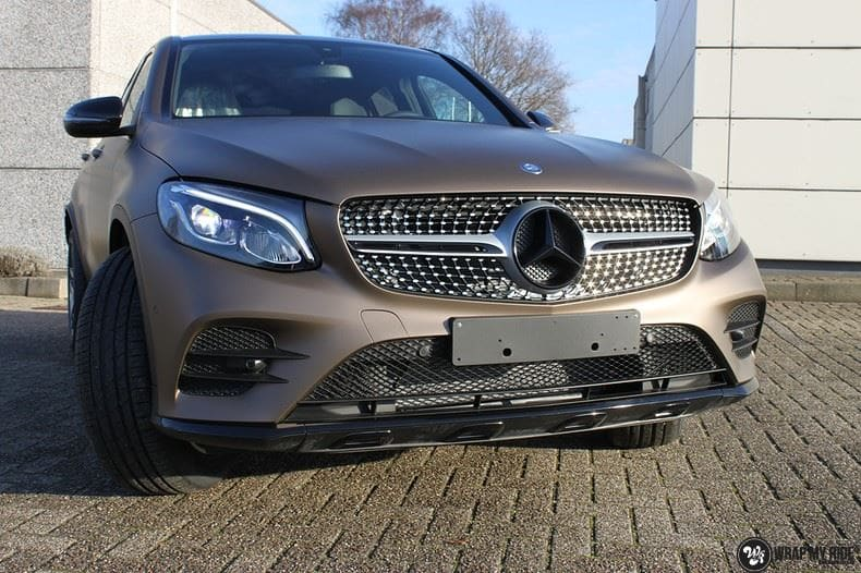 Mercedes GLC matte metallic brown, Carwrapping door Wrapmyride.nu Foto-nr:9525, ©2018