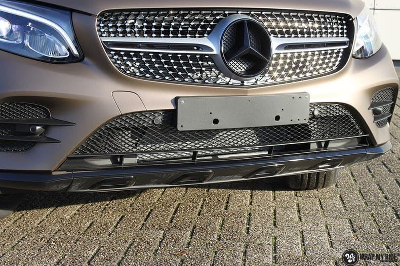 Mercedes GLC matte metallic brown, Carwrapping door Wrapmyride.nu Foto-nr:9524, ©2021