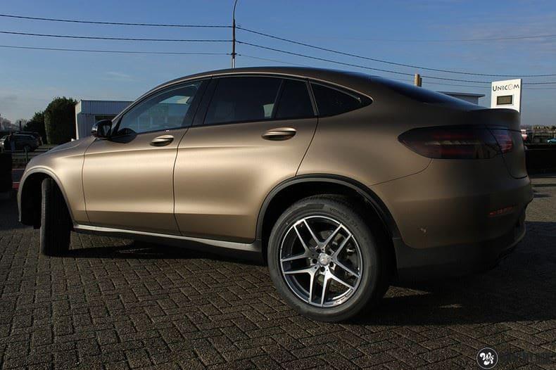 Mercedes GLC matte metallic brown, Carwrapping door Wrapmyride.nu Foto-nr:9521, ©2021