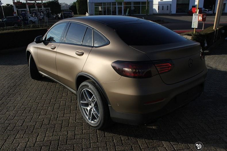 Mercedes GLC matte metallic brown, Carwrapping door Wrapmyride.nu Foto-nr:9520, ©2018
