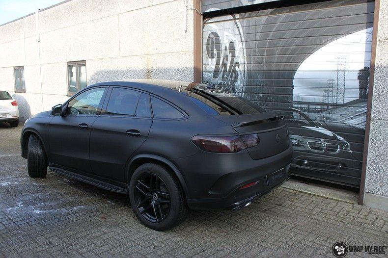 Mercedes GLE Matte Deep Black, Carwrapping door Wrapmyride.nu Foto-nr:10677, ©2020
