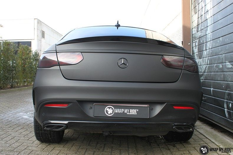 Mercedes GLE Matte Deep Black, Carwrapping door Wrapmyride.nu Foto-nr:10679, ©2021