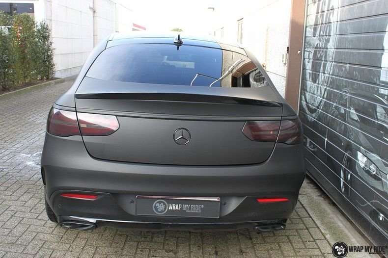 Mercedes GLE Matte Deep Black, Carwrapping door Wrapmyride.nu Foto-nr:10680, ©2020