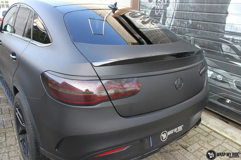 Mercedes GLE Matte Deep Black, Carwrapping door Wrapmyride.nu Foto-nr:10681, ©2021