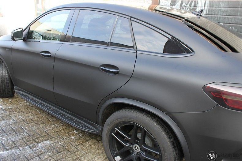 Mercedes GLE Matte Deep Black, Carwrapping door Wrapmyride.nu Foto-nr:10682, ©2021