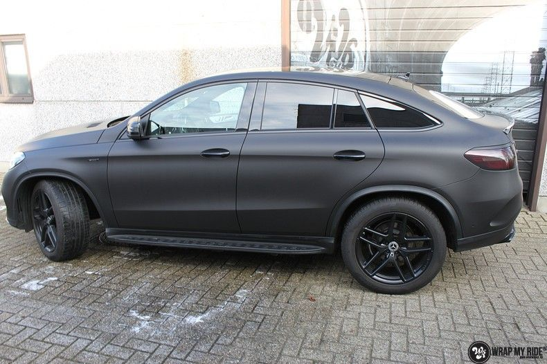 Mercedes GLE Matte Deep Black, Carwrapping door Wrapmyride.nu Foto-nr:10683, ©2021