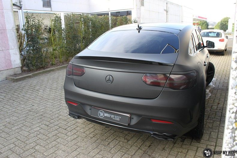Mercedes GLE Matte Deep Black, Carwrapping door Wrapmyride.nu Foto-nr:10684, ©2020