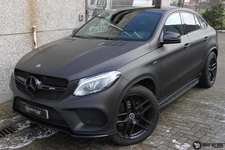 Mercedes GLE Matte Deep Black, Carwrapping door Wrapmyride.nu Foto-nr:10691, ©2021