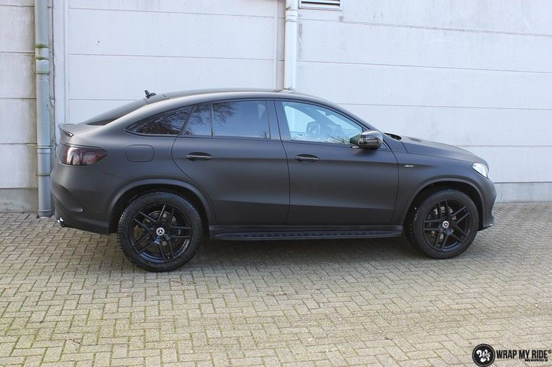 Mercedes GLE Matte Deep Black, Carwrapping door Wrapmyride.nu Foto-nr:10692, ©2021