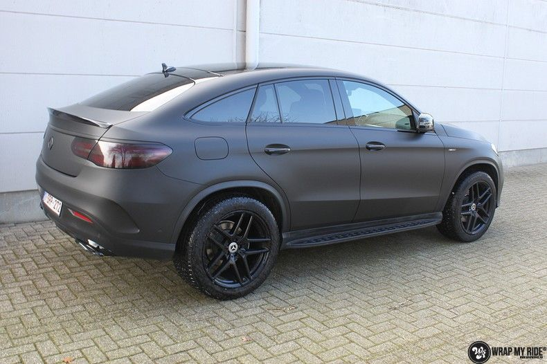 Mercedes GLE Matte Deep Black, Carwrapping door Wrapmyride.nu Foto-nr:10693, ©2021