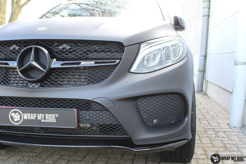 Mercedes GLE Matte Deep Black, Carwrapping door Wrapmyride.nu Foto-nr:10695, ©2020