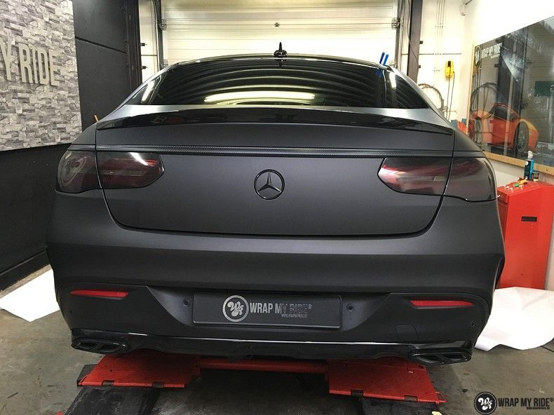Mercedes GLE Matte Deep Black, Carwrapping door Wrapmyride.nu Foto-nr:10675, ©2020