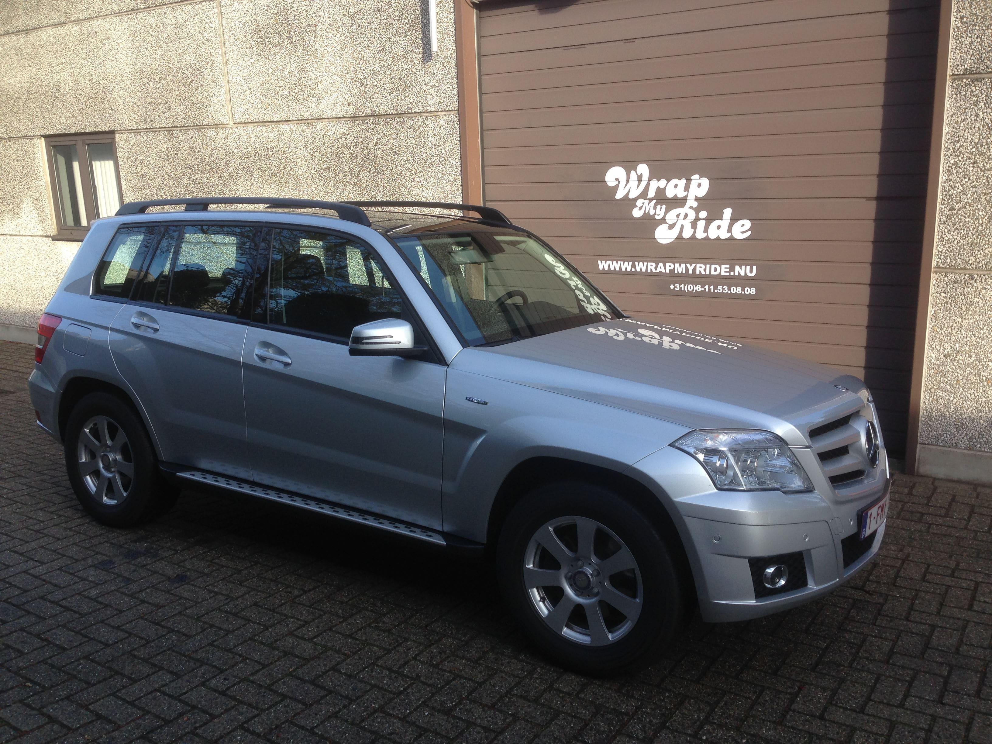 Mercedes GLK met Glossy White Wrap, Carwrapping door Wrapmyride.nu Foto-nr:6296, ©2020