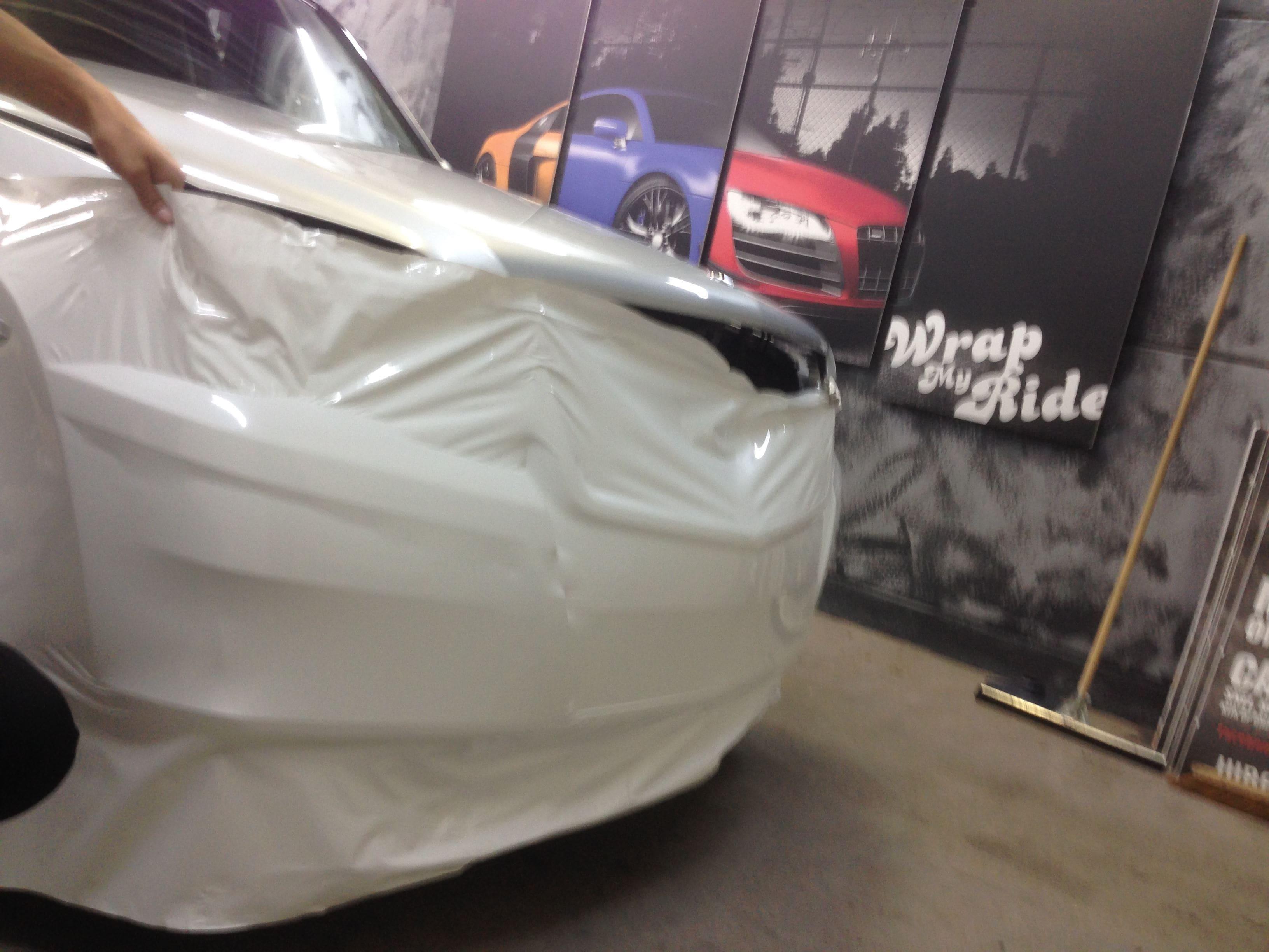 Mercedes GLK met Glossy White Wrap, Carwrapping door Wrapmyride.nu Foto-nr:6297, ©2020