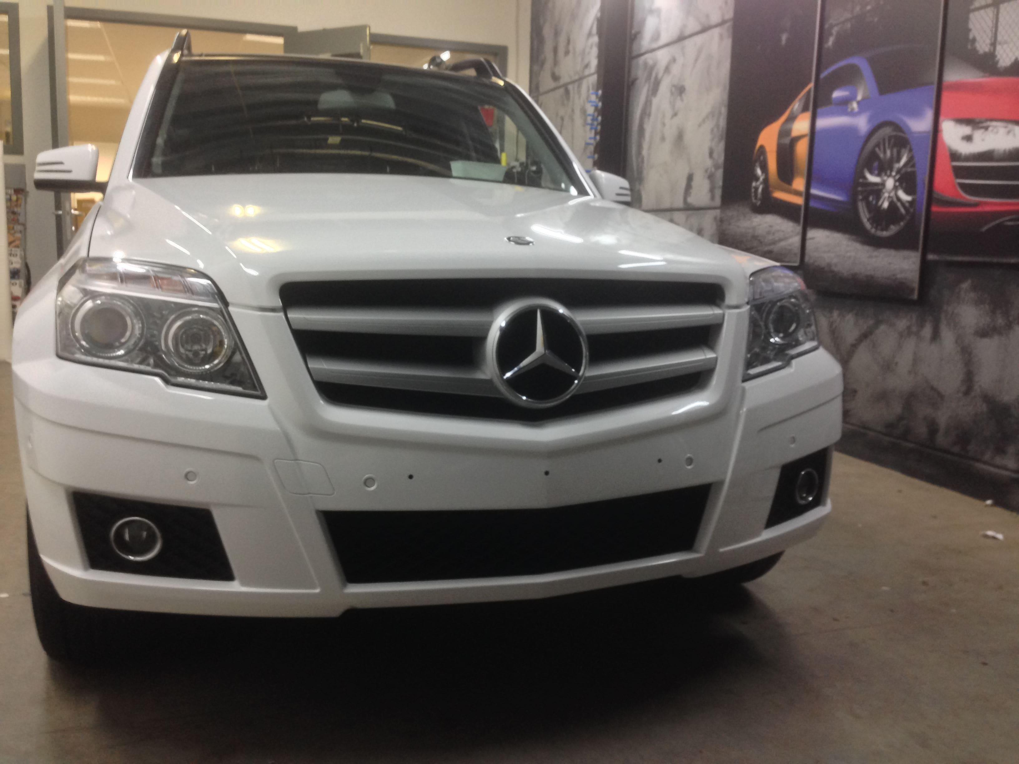 Mercedes GLK met Glossy White Wrap, Carwrapping door Wrapmyride.nu Foto-nr:6303, ©2020