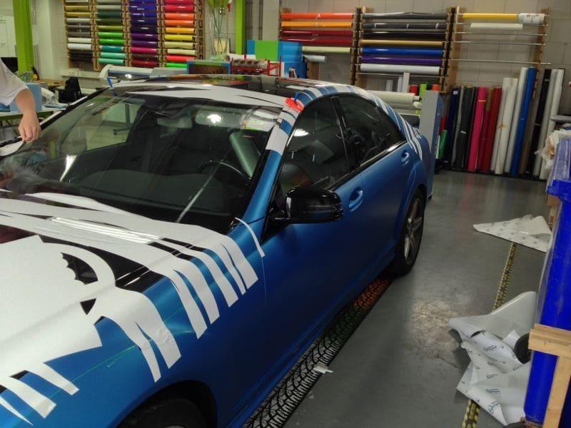 Mercedes S-Klasse AMG met Speciale Modball Wrap, Carwrapping door Wrapmyride.nu Foto-nr:6313, ©2020