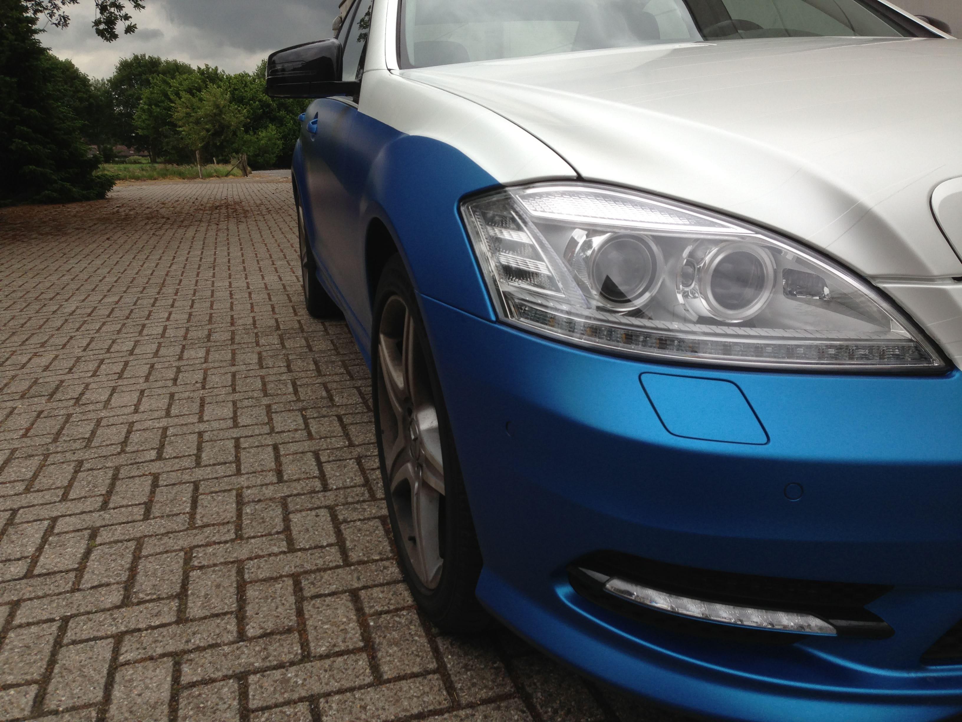 Mercedes S-Klasse AMG met Speciale Modball Wrap, Carwrapping door Wrapmyride.nu Foto-nr:6316, ©2020