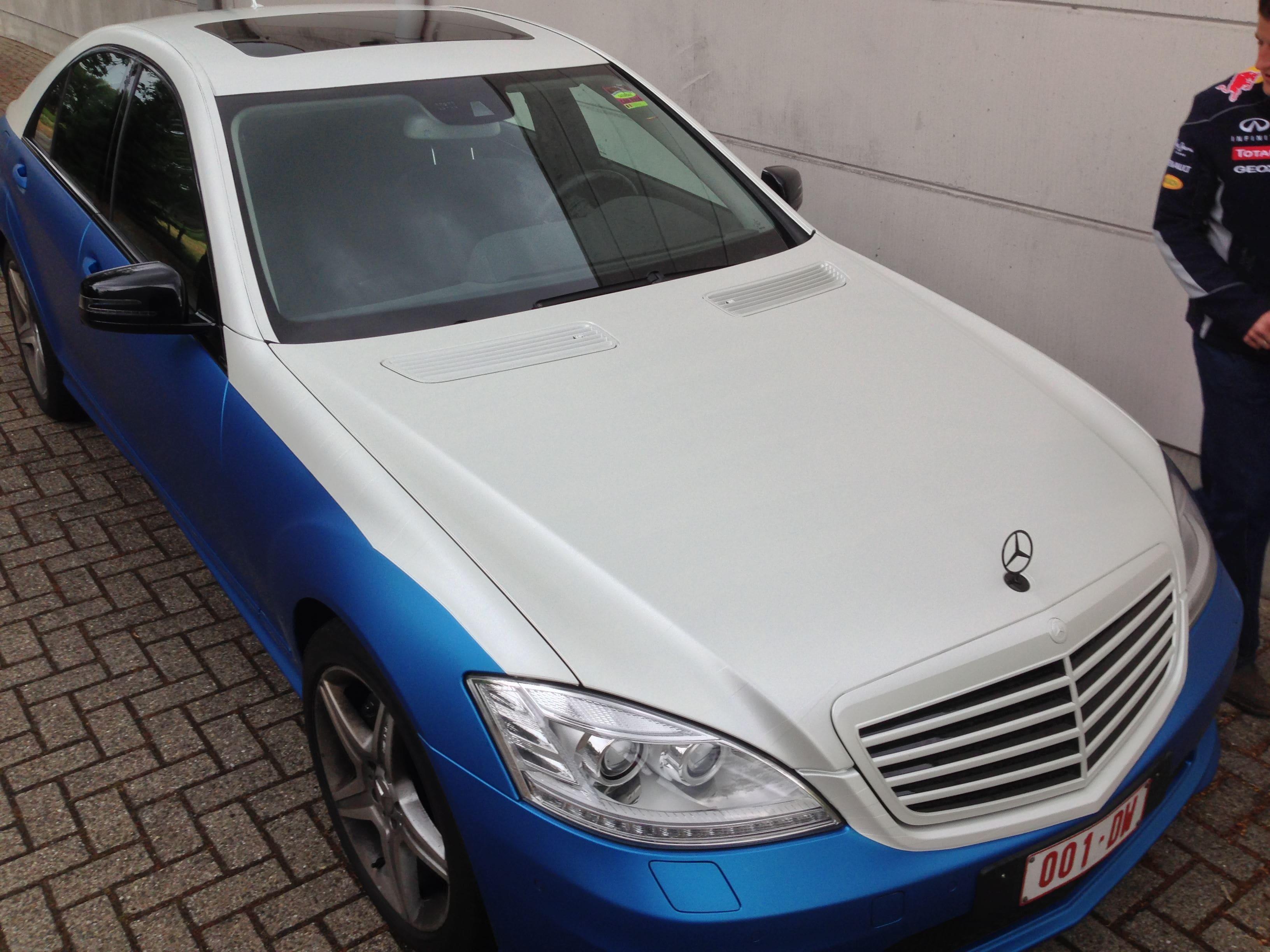 Mercedes S-Klasse AMG met Speciale Modball Wrap, Carwrapping door Wrapmyride.nu Foto-nr:6319, ©2020
