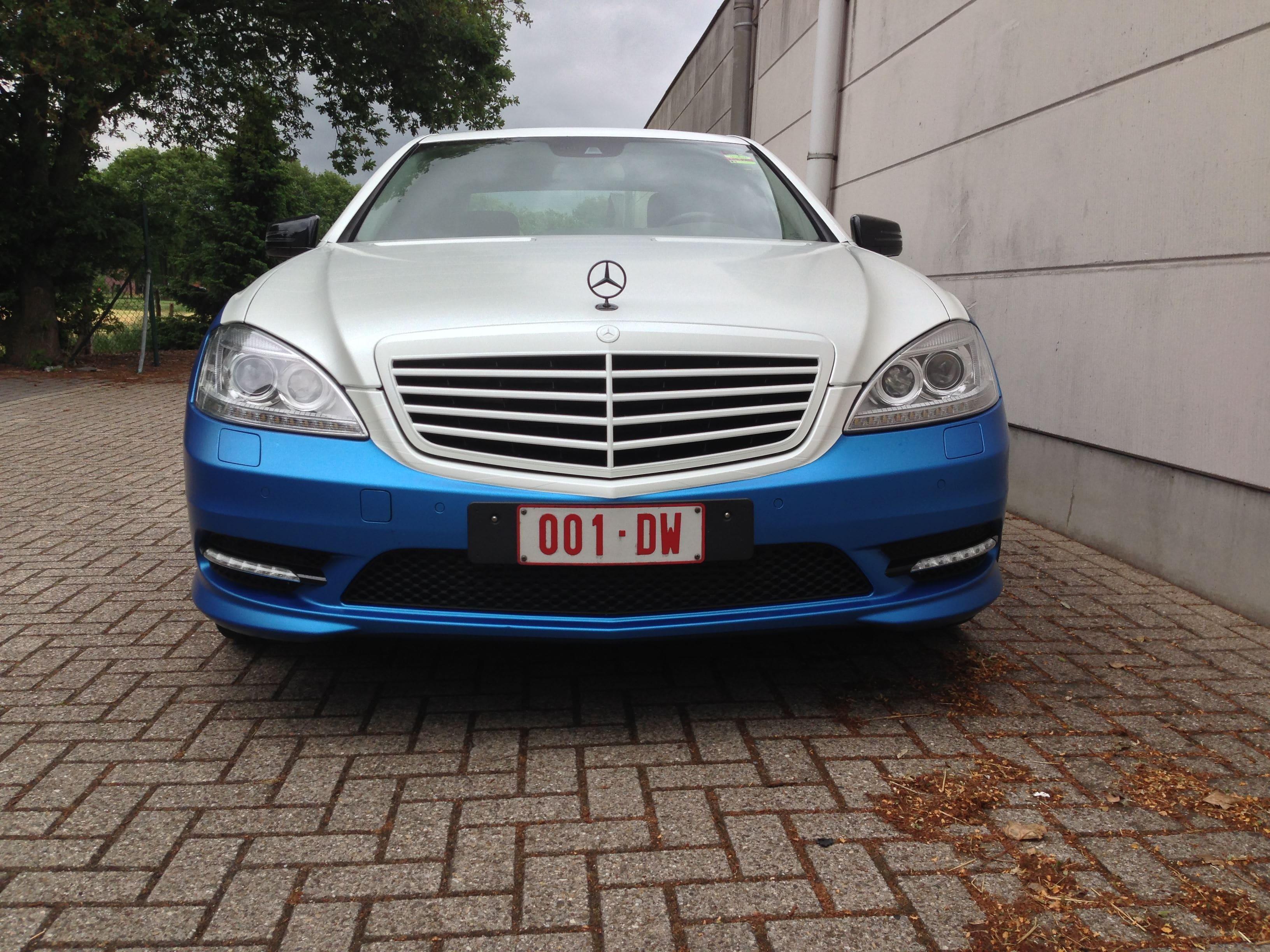 Mercedes S-Klasse AMG met Speciale Modball Wrap, Carwrapping door Wrapmyride.nu Foto-nr:6320, ©2020