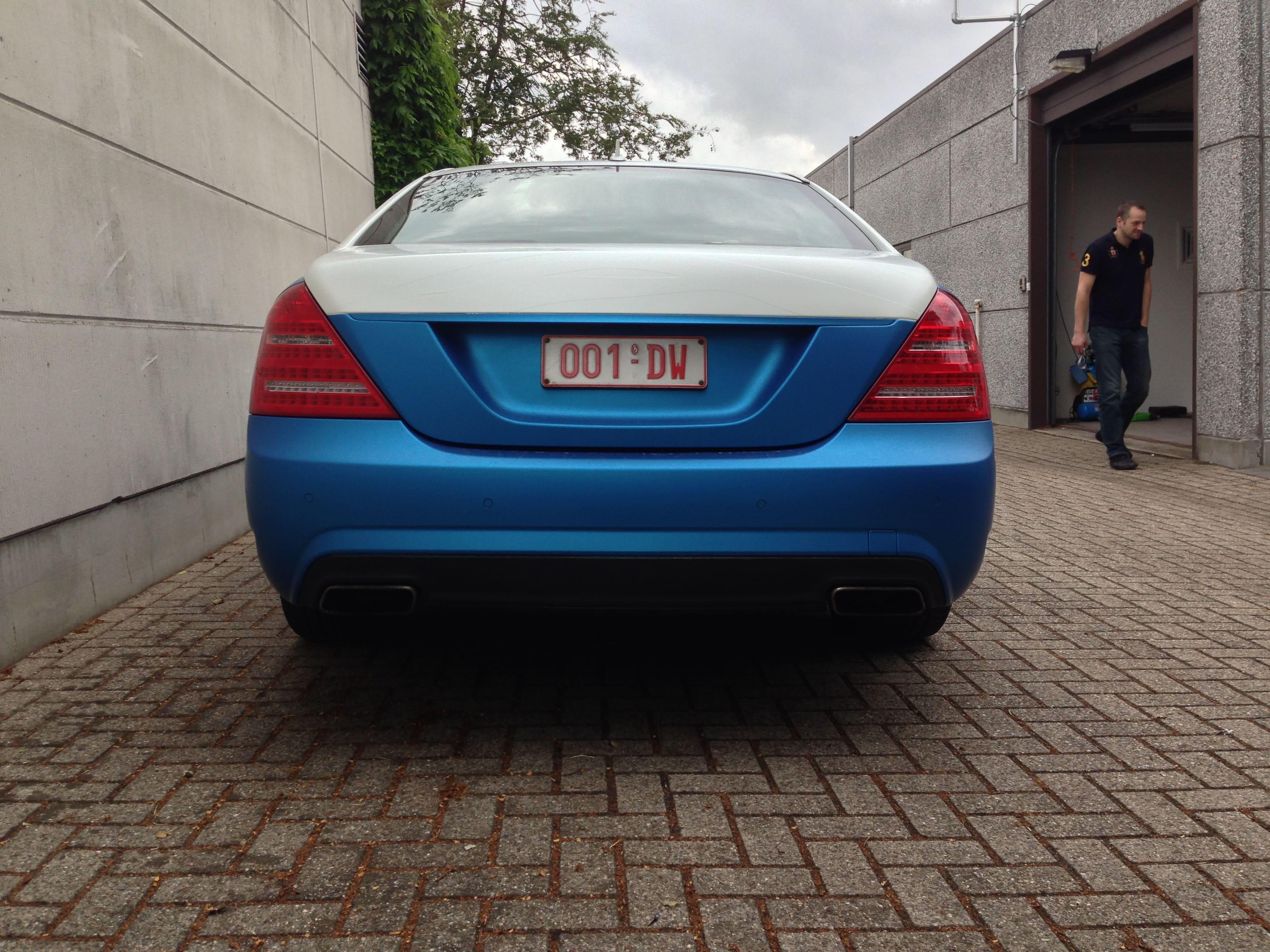Mercedes S-Klasse AMG met Speciale Modball Wrap, Carwrapping door Wrapmyride.nu Foto-nr:6321, ©2021