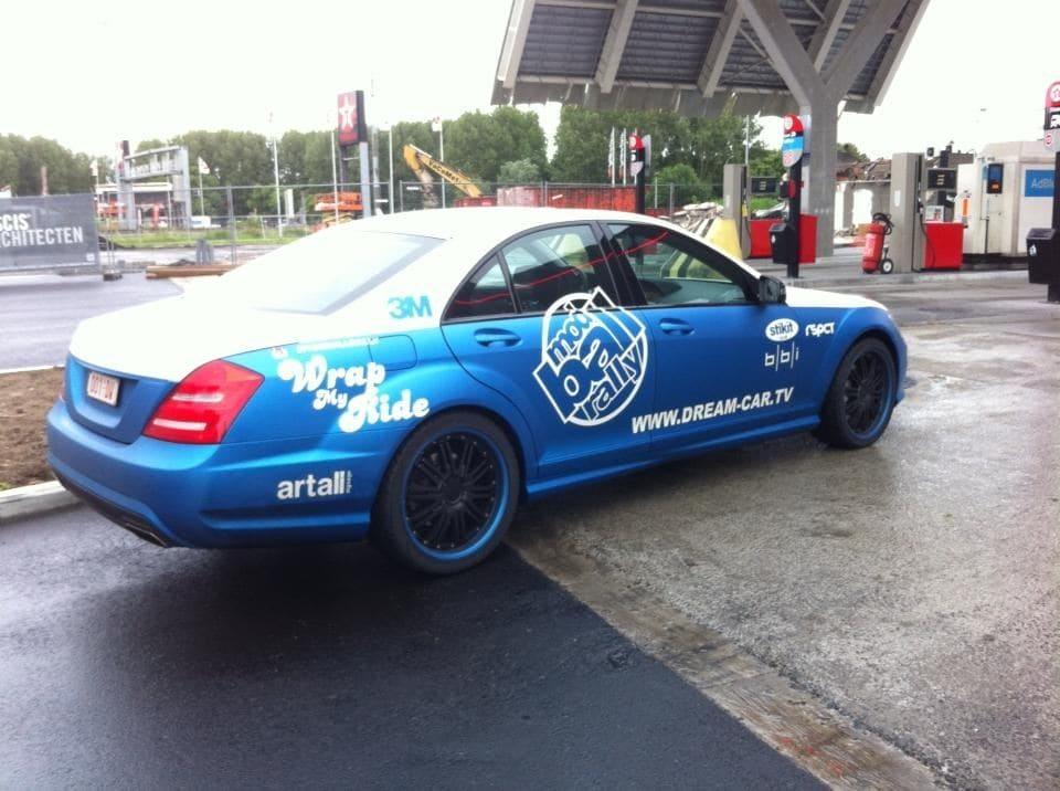 Mercedes S-Klasse AMG met Speciale Modball Wrap, Carwrapping door Wrapmyride.nu Foto-nr:6334, ©2020