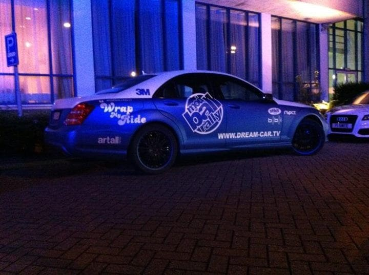 Mercedes S-Klasse AMG met Speciale Modball Wrap, Carwrapping door Wrapmyride.nu Foto-nr:6335, ©2020