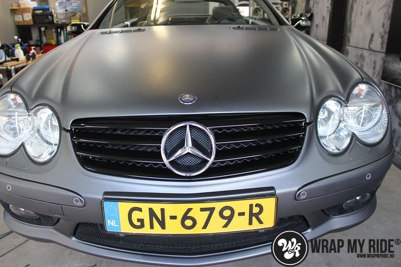 Mercedes SL 55AMG, Carwrapping door Wrapmyride.nu Foto-nr:7948, ©2021
