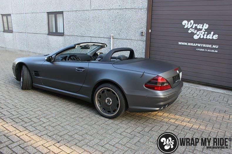 Mercedes SL 55AMG, Carwrapping door Wrapmyride.nu Foto-nr:7955, ©2021