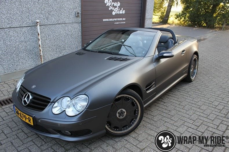 Mercedes SL 55AMG, Carwrapping door Wrapmyride.nu Foto-nr:7960, ©2021