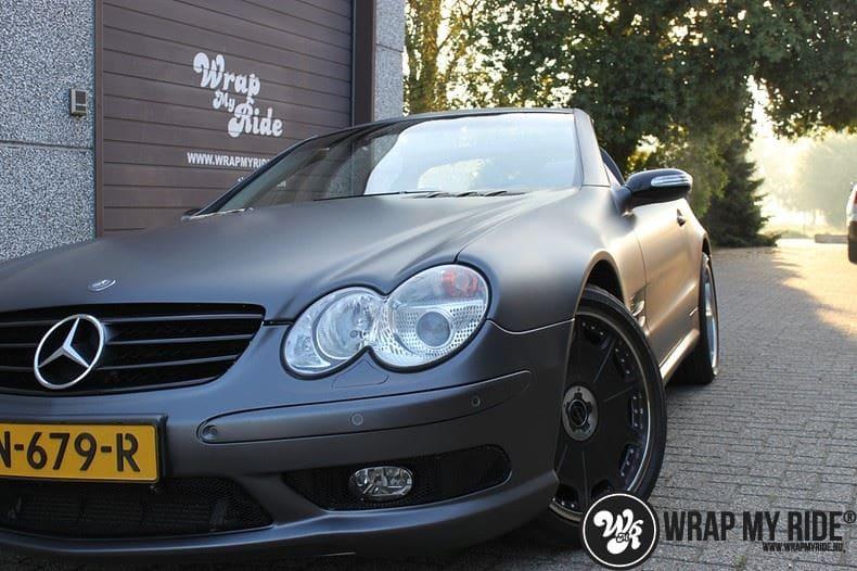 Mercedes SL 55AMG, Carwrapping door Wrapmyride.nu Foto-nr:7964, ©2021