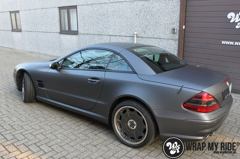 Mercedes SL 55AMG, Carwrapping door Wrapmyride.nu Foto-nr:7975, ©2021
