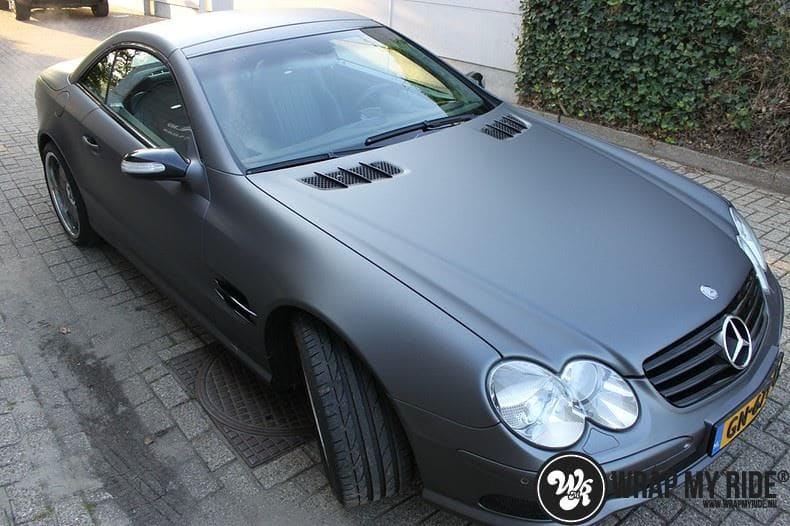 Mercedes SL 55AMG, Carwrapping door Wrapmyride.nu Foto-nr:7979, ©2021