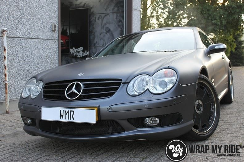 Mercedes SL 55AMG, Carwrapping door Wrapmyride.nu Foto-nr:7982, ©2021