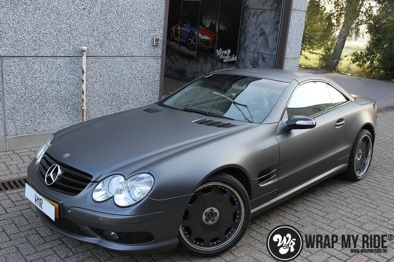Mercedes SL 55AMG, Carwrapping door Wrapmyride.nu Foto-nr:7983, ©2021