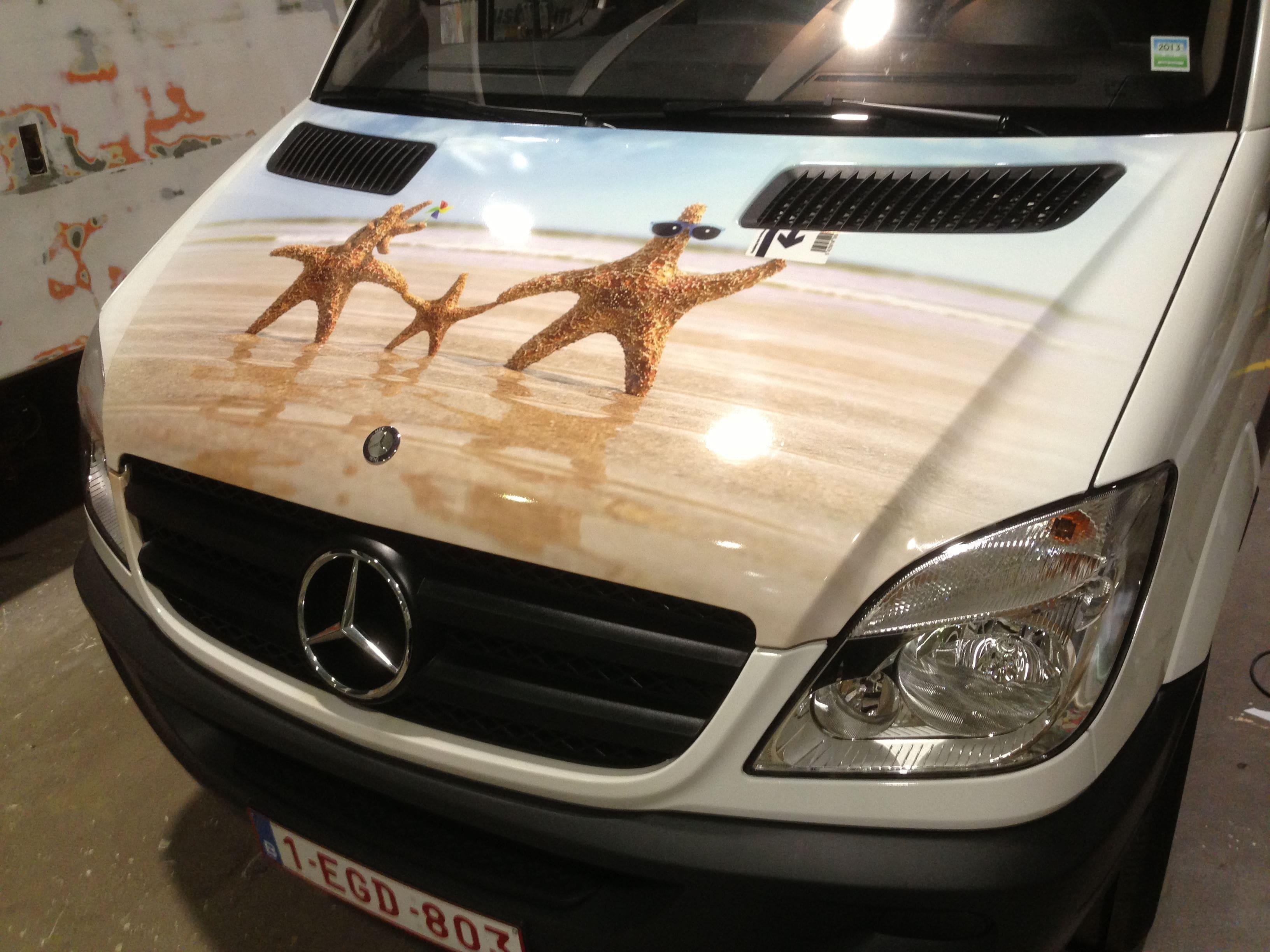 Mercedes Sprinter met Full Color Wrap voor De Lijn, Carwrapping door Wrapmyride.nu Foto-nr:6345, ©2021