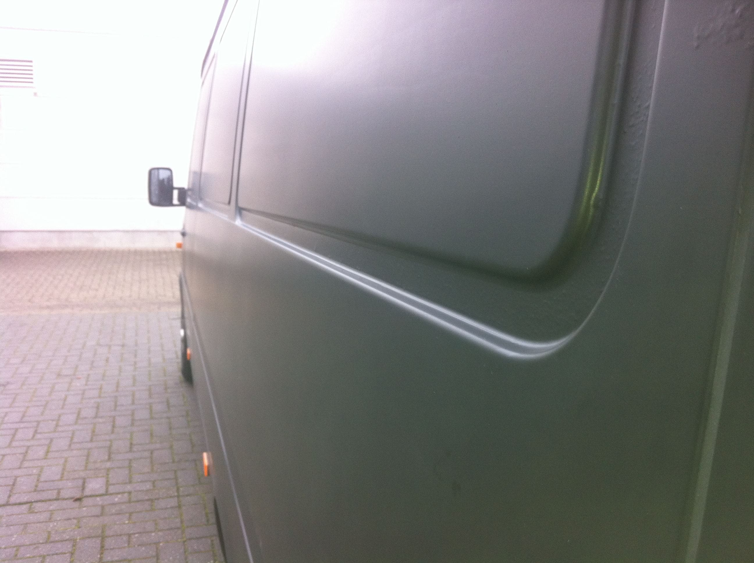 Mercedes Sprinter met Mat Zwarte Wrap, Carwrapping door Wrapmyride.nu Foto-nr:6373, ©2020