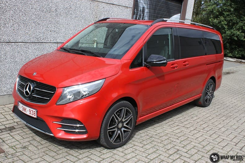 Mercedes V-klasse AMG Dragon fire red, Carwrapping door Wrapmyride.nu Foto-nr:9887, ©2018