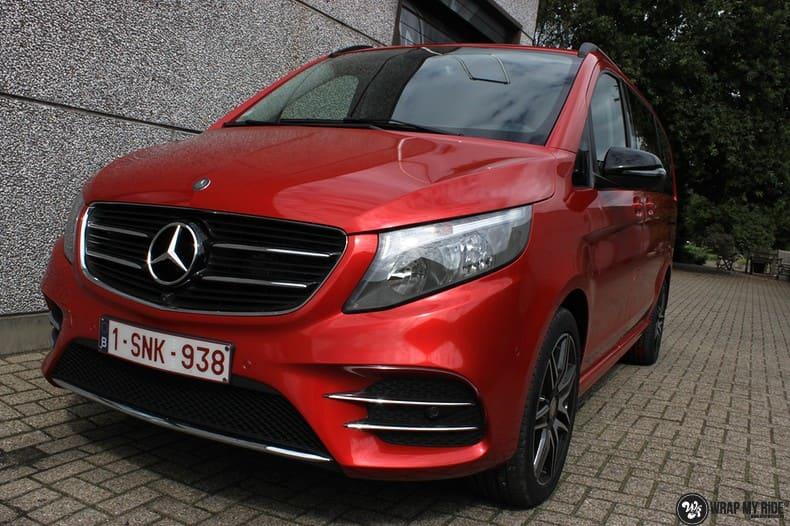 Mercedes V-klasse AMG Dragon fire red, Carwrapping door Wrapmyride.nu Foto-nr:9886, ©2021