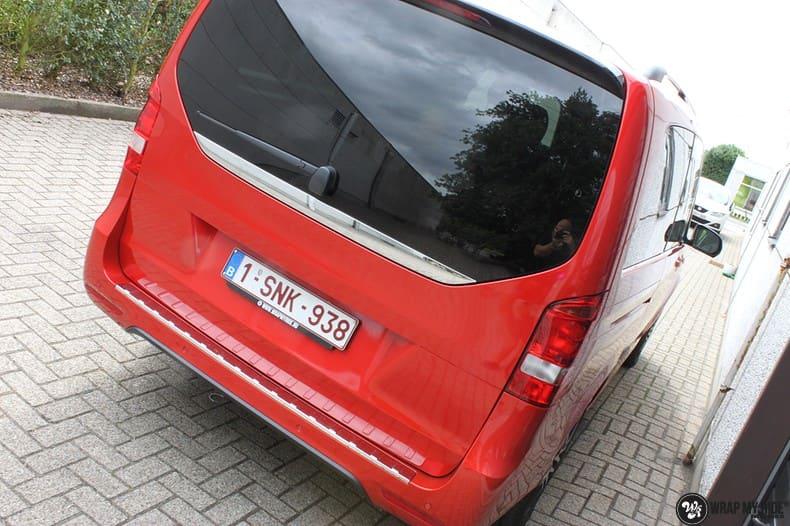 Mercedes V-klasse AMG Dragon fire red, Carwrapping door Wrapmyride.nu Foto-nr:9881, ©2021