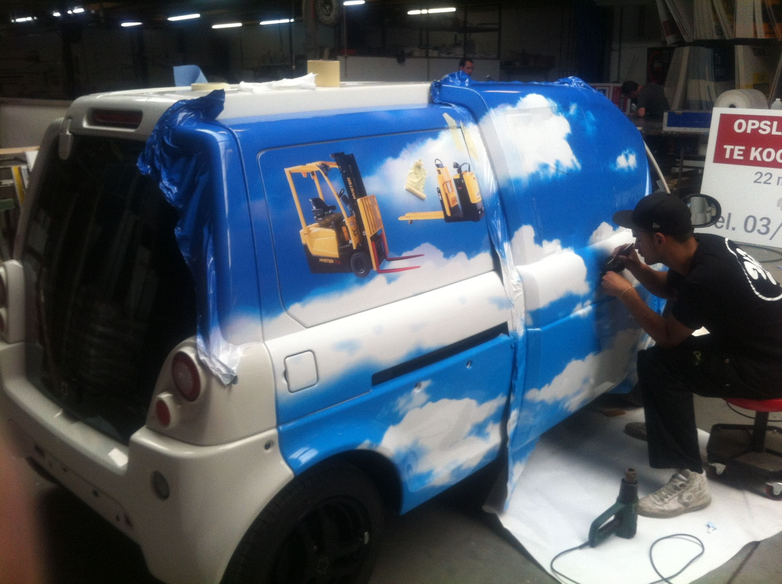 Mia Electrowagen met Full Color Wrap, Carwrapping door Wrapmyride.nu Foto-nr:6358, ©2021