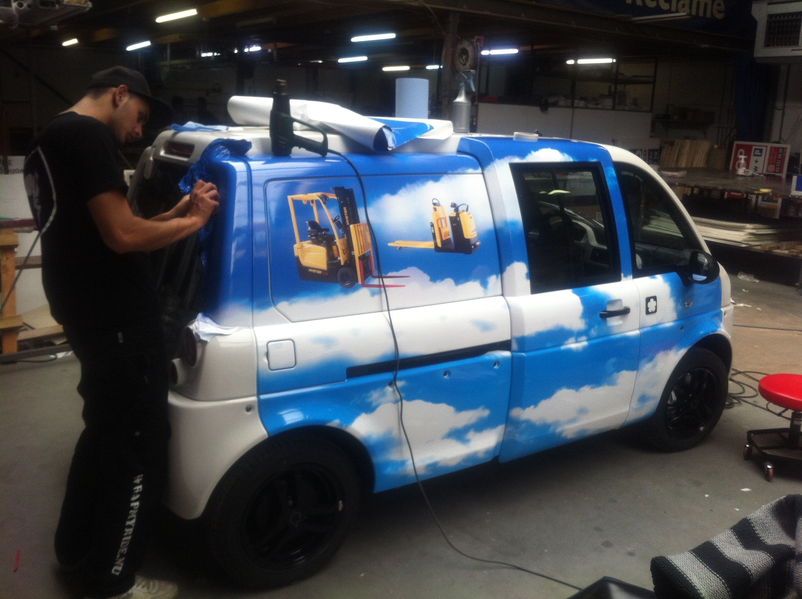 Mia Electrowagen met Full Color Wrap, Carwrapping door Wrapmyride.nu Foto-nr:6359, ©2021