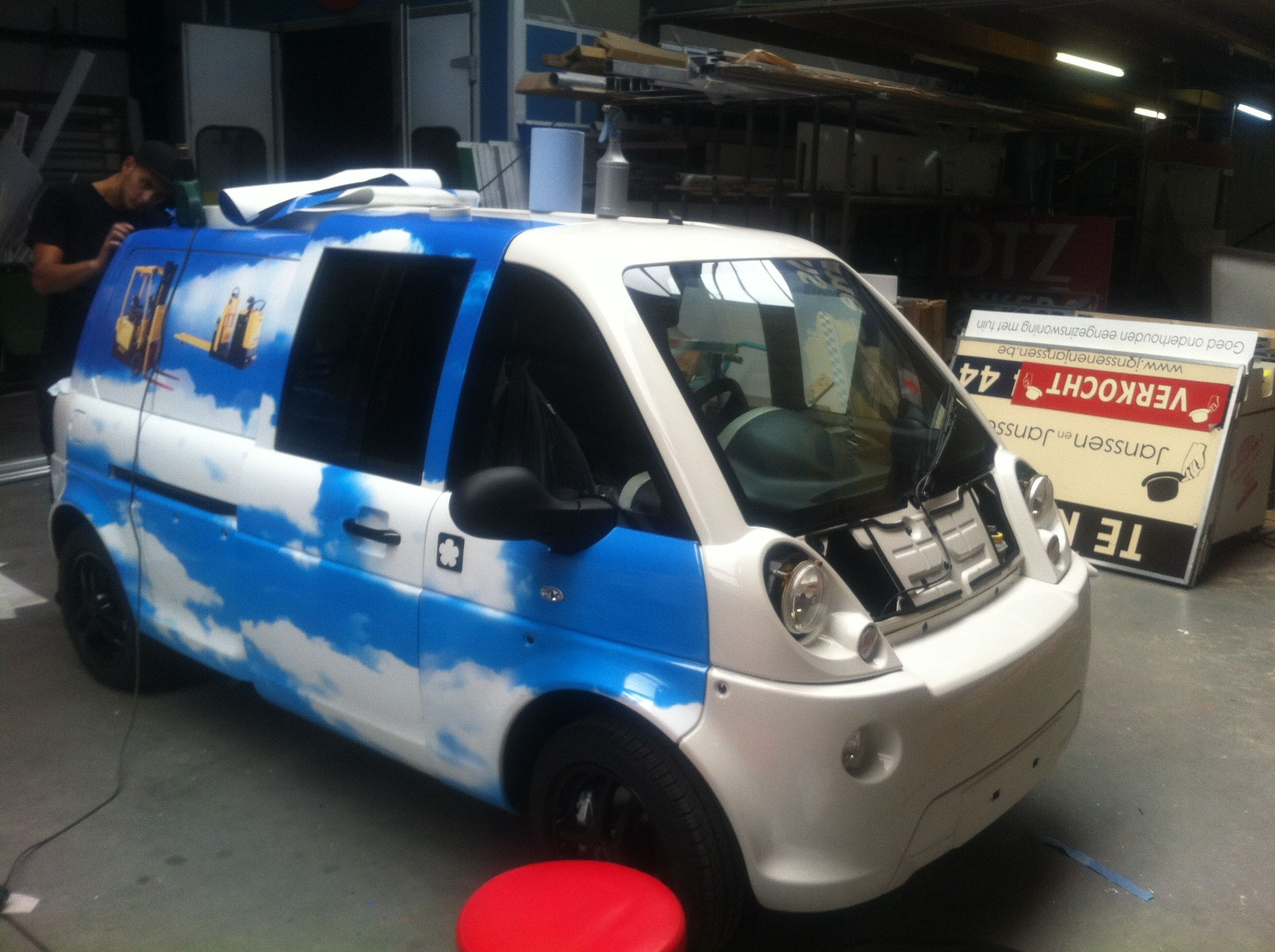 Mia Electrowagen met Full Color Wrap, Carwrapping door Wrapmyride.nu Foto-nr:6360, ©2021