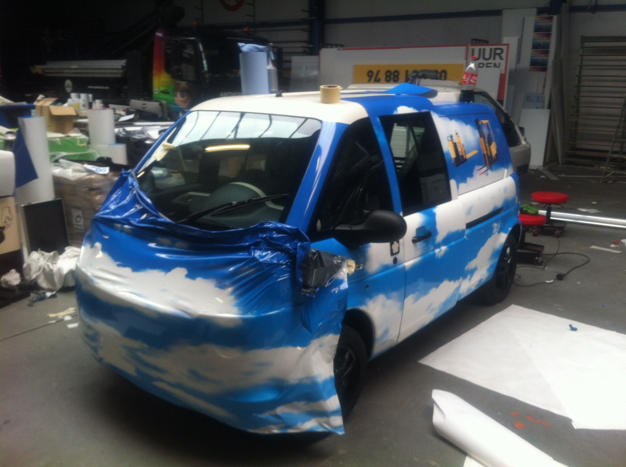 Mia Electrowagen met Full Color Wrap, Carwrapping door Wrapmyride.nu Foto-nr:6363, ©2021