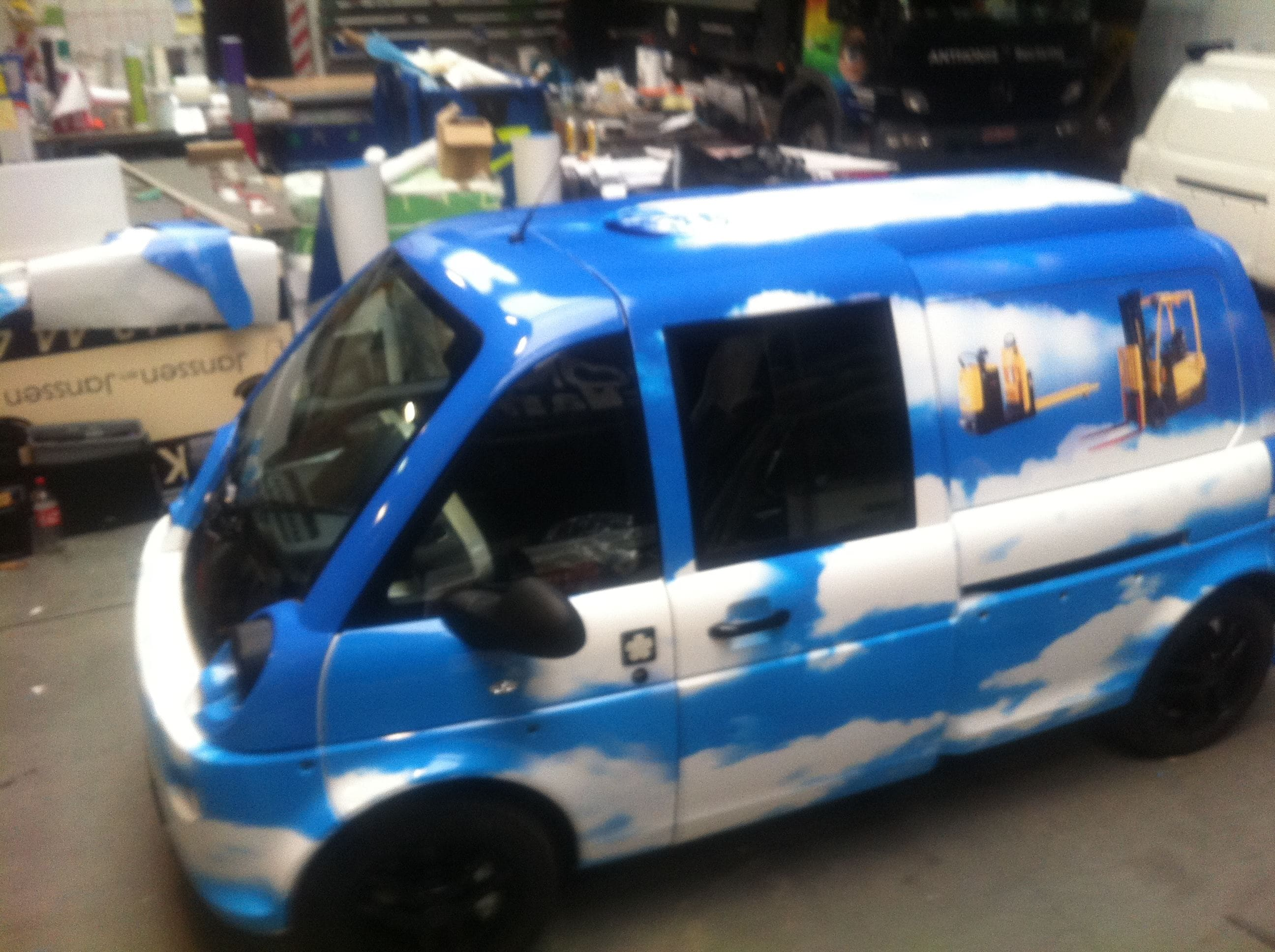 Mia Electrowagen met Full Color Wrap, Carwrapping door Wrapmyride.nu Foto-nr:6365, ©2021